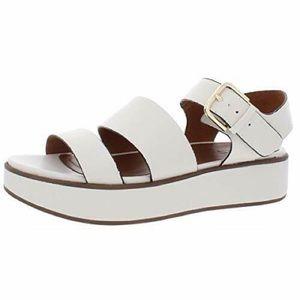 Naturalizer White Platform Sandals